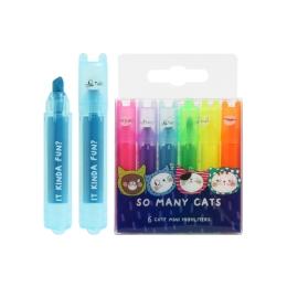 Zvýrazňovač M&G Mini Neon - sada 6 ks