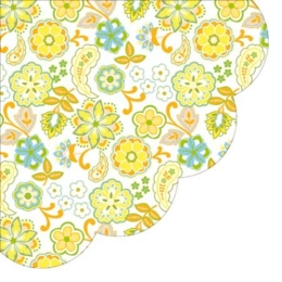 Obrúsky PAW R 32 cm Floral Pattern Orange