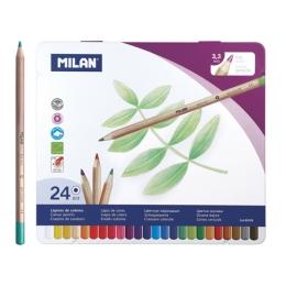 Pastelky MILAN šesťhranné 3,3mm 24ks metal box