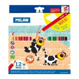 Pastelky MILAN maxi šesťhranné 12 ks + orezávatko