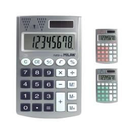 Kalkulačka MILAN Pocket Silver vrecková 8-miestna