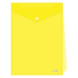 Obal s patentkou - rozšíriteľný PP/A4 Up, priehľadný/žltý