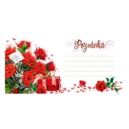 Pozvánka na párty H /2403-0006/ Flowers - sada 10 ks