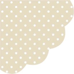 Obrúsky PAW R 32 cm Dots Beige