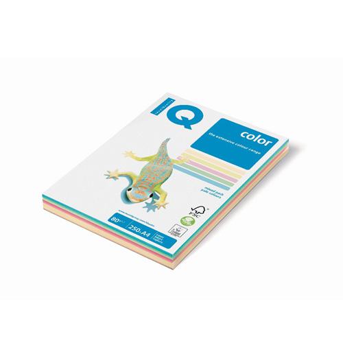 Kopírovací papier A4 IQ 80g 5x100 color mix pastel. farby
