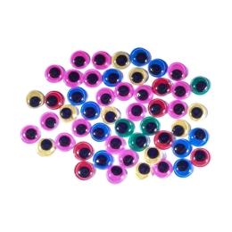 Dekorácia pohyblivé oči farebné 10 mm, sada 50 ks