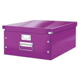 """Archivačná krabica, A3, lakový lesk, LEITZ """"Click&Store"""", fialová"""