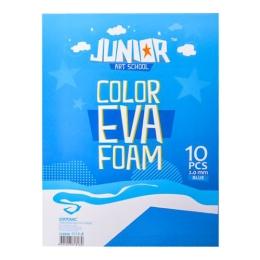 Dekoračná pena A4 EVA 10 ks modrá hrúbka 2,0 mm