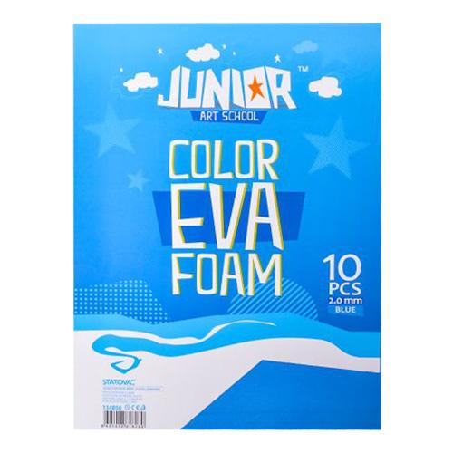 Dekoračná pena A4 EVA modrá 2,0 mm, sada 10 ks