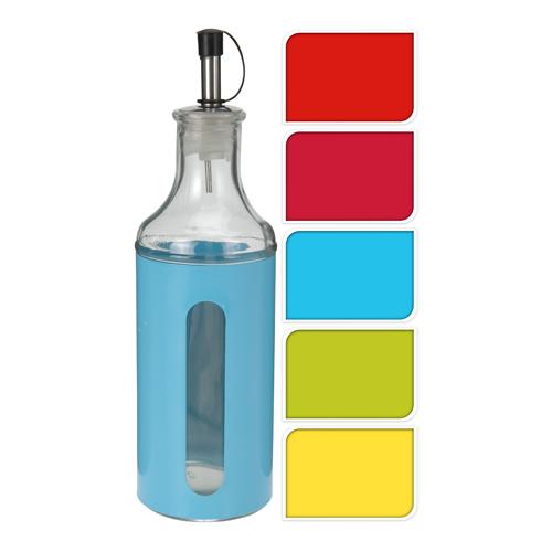 Fľaša na olej/ocot 400 ml, mix farieb, 1ks