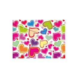 Obal PP s patentkou A5, Love Hearts