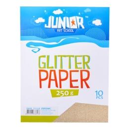 Dekoračný papier A4 Glitter zlatý 250 g, sada 10 ks