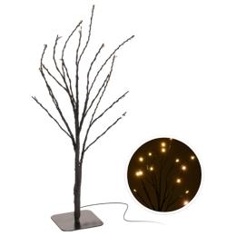 Stromček - svietiaci 15 LED teplá biela, 30 cm