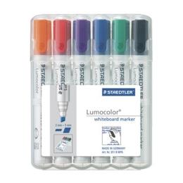 """Popisovač na tabuľe, 2,5 mm, zrezaný hrot, STAEDTLER """"Lumocolor 351 B"""" (6 ks)"""