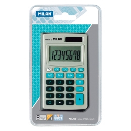 Kalkulačka MILAN vrecková 8-miestna 150208 modrá