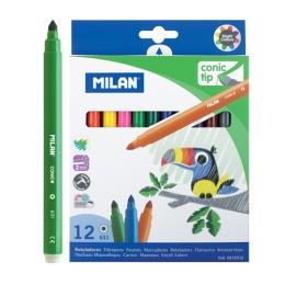 Fixy MILAN guľaté 0,5 mm MAXI - sada 12 ks