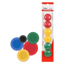Magnetky - farebné, 30 mm/6 ks