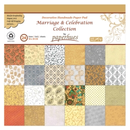 Zložka dekor. papiera - 24 listov, 30x30 cm - Marriage & Celebration Collection