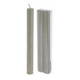 Sviečka - strieborná 22 cm, set 2ks