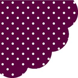 Obrúsky PAW R 32 cm Dots Dark Violet