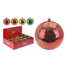 Vianočná guľa - PP 100 mm/mix farieb, mix/1ks