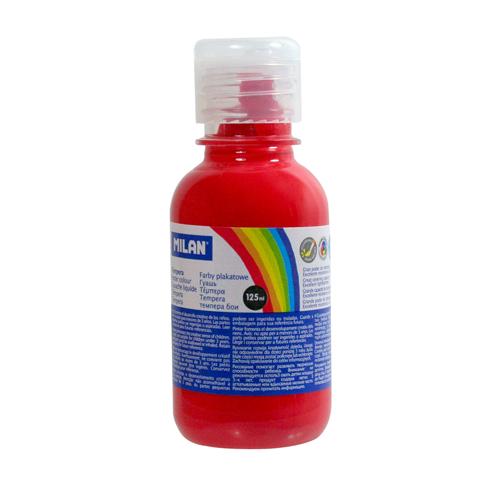 Farba temperová MILAN 125ml  červená rumelka
