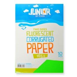 Dekoračný papier A4 Neon zelený vlnkový 160 g, sada 10 ks