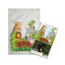 Desiatové vrecká 25x35 cm, detský motív Zoo 40ks/bal