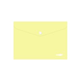 Obal s patentkou PP/A5 Pastel - žltý