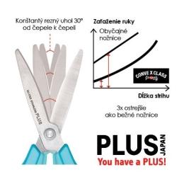 Nožnice PLUS SC-175SF teflónové biele, 7