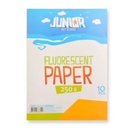 Dekoračný papier A4 Fluo oranžový 250 g, sada 10 ks