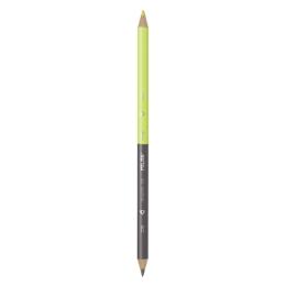Ceruzka obojstranná MILAN, trojhranná čierno-žltá (fluo)