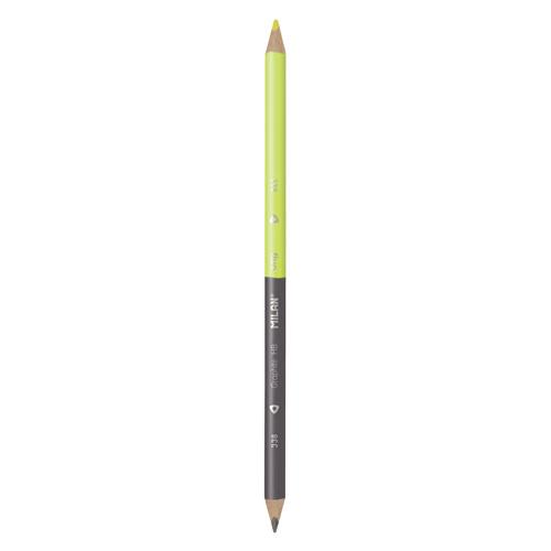 Ceruzka MILAN trojhranná Fluo obojstranná čierno-žltá