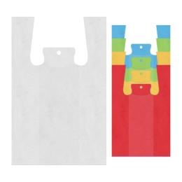 Tašky HDPE 4 kg košieľkové 47 x 23 x 11 cm, bal. 50 ks / farebné