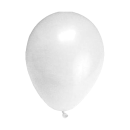 Balón M 25 cm, biely /10 ks/