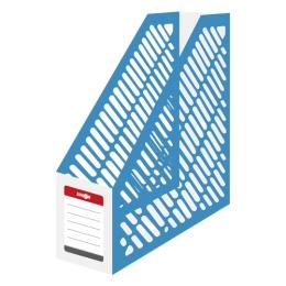 Stojan na časopisy A4 JUNIOR - plastový/bielo-modrý