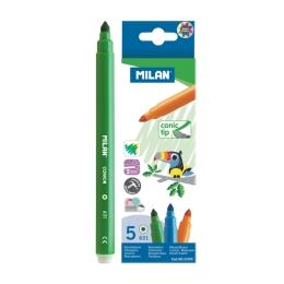 Fixy MILAN 0,5mm - sada 5ks guľaté