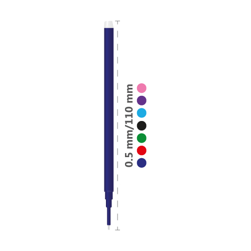 Náplň gumovacia PILOT Frixion 0,5 mm/3 ks Micro hrot - svetlo modrá