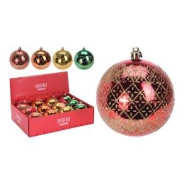 Vianočná guľa - PP 80 mm/mix farieb, mix/1ks