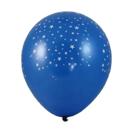 Balón L 30 cm, Hviezdy /100 ks/