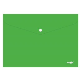 Obal s patentkou PP/A4, zelený