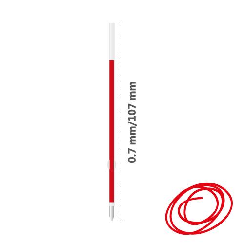 Náplň gélová MILAN Dry-Gel 0,7 mm - červená