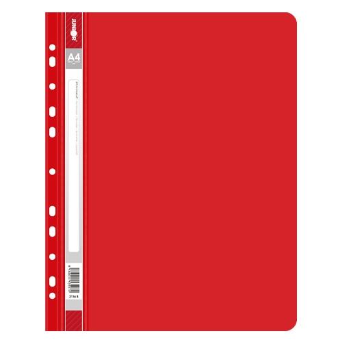 Rýchloviazač s europerforáciou PP/A4, červený