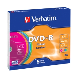 DVD-R Verbatim DataLife Plus 16x, 4,7 GB, 5-pack