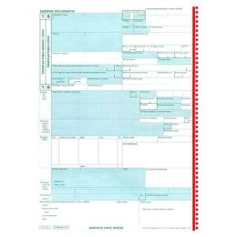 Jednotný colný doklad JCD COL 205, samoprepis (91)