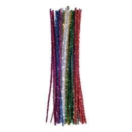 Dekoračné drôtiky 30 cm mix farieb Glitter / sada 30 ks