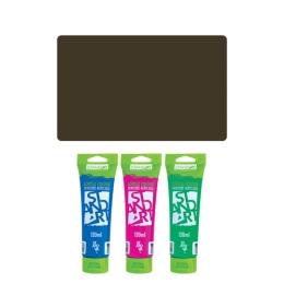 Akrylová farba JUNIOR 120 ml tmavo hnedá 530