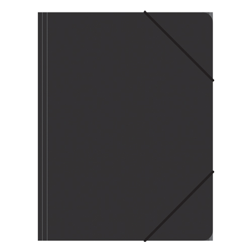 Zakladacia mapa 3-chlopňová, s gumou, čierna
