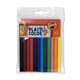 Pastelky KOH-I-NOOR Plasti Color PE, sada 12 ks