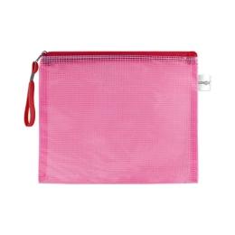 Sieťovaná obálka so zipsom PVC/A5, červená